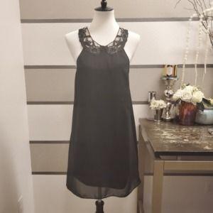 Dress the Population-Lace Neck Dress